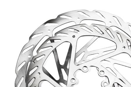 Mountain bike disk rotors on white background Stock Photo - 11293890