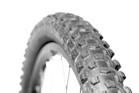 Knobby mountain bike tire close-up Stock Photo - 11293892