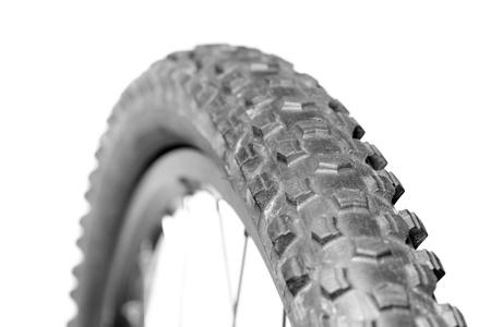 knobby: Knobby mountain bike tire close-up