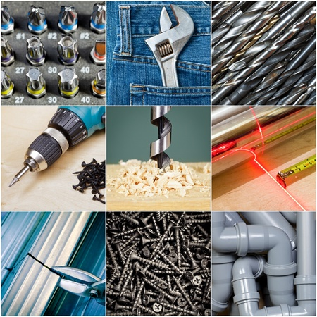 metalwork: Construction or repair tools collection Stock Photo