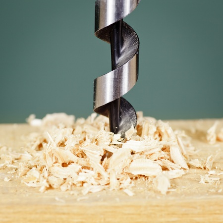 Wood drill bit with shaving