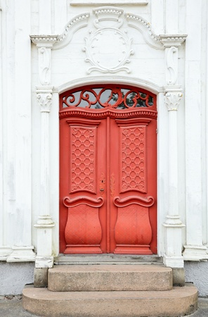 Old ornate wooden door in Norway Stock Photo - 12151675