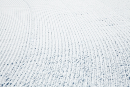 snowcat: Freshly groomed piste close up