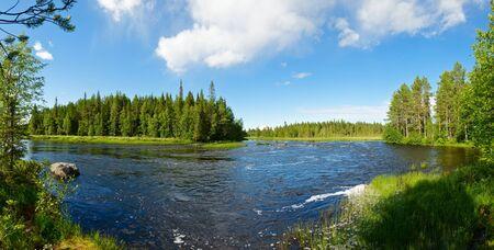 pista: Panoramic view of Pistojoki river in Karelia, Russia Stock Photo