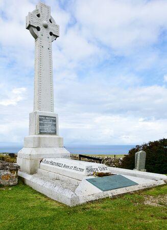 jacobite: Flora MacDonalds Grave on Isle of Skye in Scotland