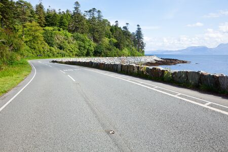 Scenic coast road in Scotland photo