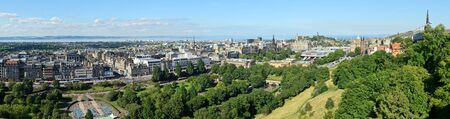 Panoramic view of Edinburgh New Town from Edinburgh Castle