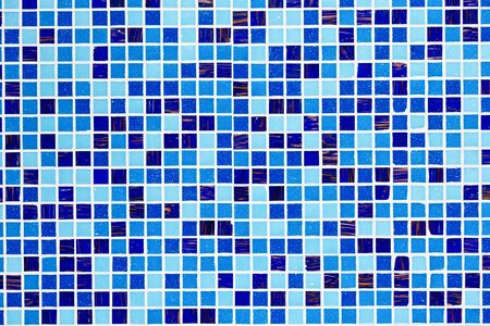 tiled wall: Blue glass mosaic texture background