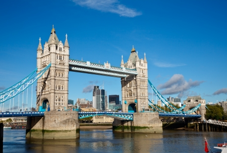 Tower Bridge over the River Thames in London photo