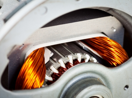 rotor: Rotor of electric motor close-up