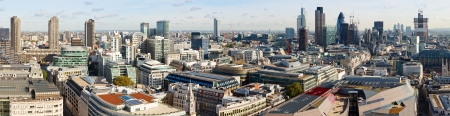 city panorama: Panoramic view of City of London