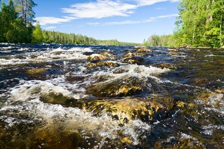 pista: Close-up shot of rapids on the Pistojoki river in Karelia, Russia Stock Photo
