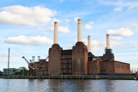 coal plant: Abandonded Battersea power station in London Stock Photo