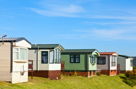 Hütten in Ferienpark in England Lizenzfreie Bilder
