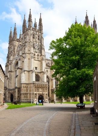 canterbury: La cath�drale de Canterbury � Canterbury, Kent, Angleterre Banque d'images