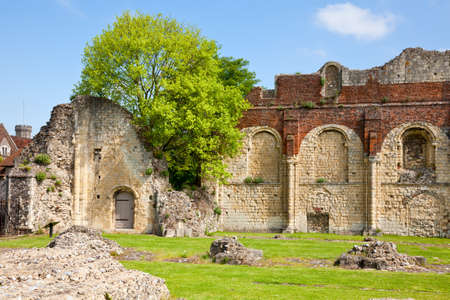 kent: Ruin grounds of St Augustines Abbey in Canterbury, Kent,  England