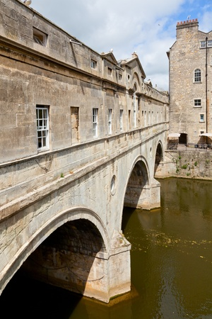 Pulteney Bridge on the River Avon in Bath, England photo