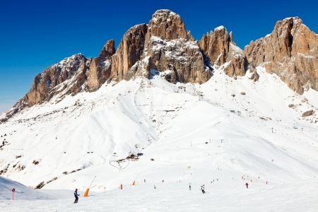 dolomites: View of a ski resort area in Italy