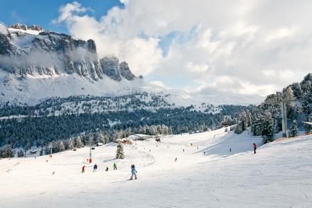 fassa: View of a ski resort area in Italy