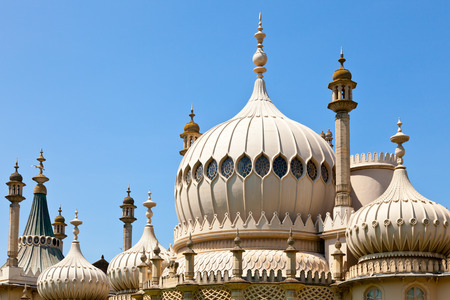 Domes of Royal Pavilion in Brighton, England photo