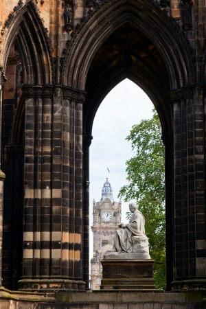 sir walter scott: Victorian gothic monument to Scottish author Sir Walter Scott in Edinburgh