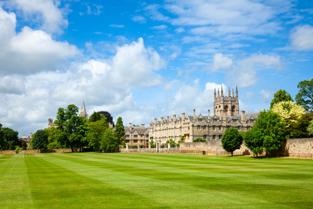 oxford: Merton College with chapel, Oxford University, England