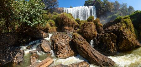 dalat: Panoramic shot of Elephant waterfall near Dalat city in Vietnam