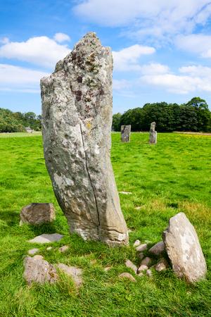 nether: Nether Largie Standing Stones ancient site at Kilmartin Glen in Scotland