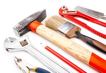 nip: Various old used tools Stock Photo