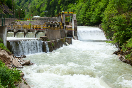 hydro electric power station: Small hydro power plant in Turkey