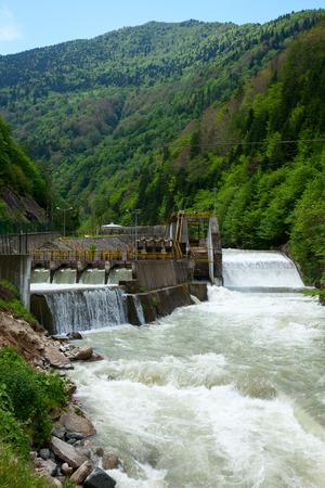 powerstation: Small hydro power plant in Turkey