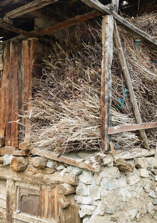 brushwood: Stack of brushwood in a country house