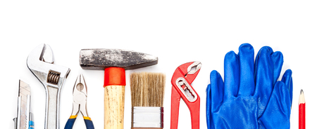 nip: Various used tools isolated on white background