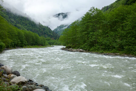 kackar: The Firtina River, well known for whitewater rafting, starts in Kackar Mountains and runs 57 km through lush countryside to the Black Sea