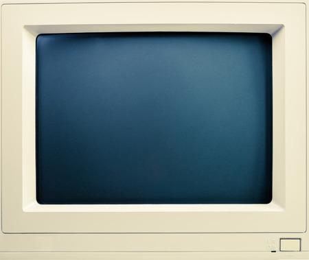 Vintage cathod ray tube computer screen close-up Stock Photo