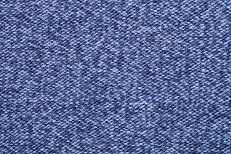 polyester: Blue knitted fabric made of heathered yarn textured background Stock Photo