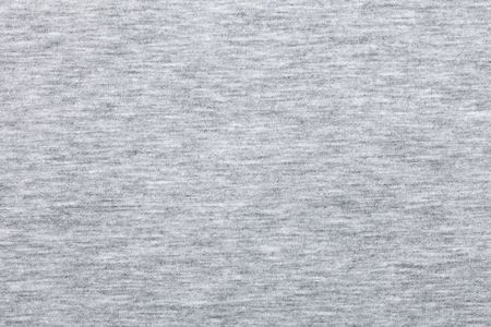 Real heather grey knitted fabric made of synthetic fibres textured background Standard-Bild