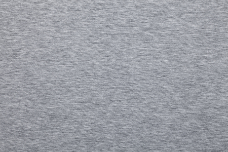 Real heather grey knitted fabric made of synthetic fibres textured background Stockfoto