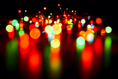 colourful lightings: Blurred christmas lights abstract background Stock Photo