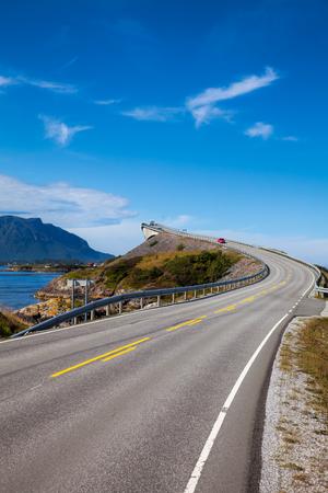 Storseisundet Bridge on the Atlantic Road in Norway Stock Photo
