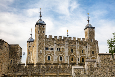 Medieval White Tower at the Tower of London in England UK