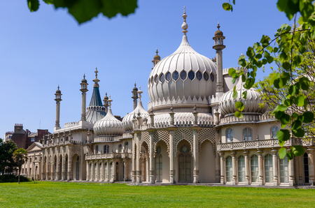 The Royal Pavilion (Brighton Pavilion), former royal residence built in the Indo-Saracenic style in Brighton, East Sussex, Southern England, UK 新闻类图片
