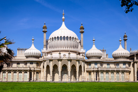 The Royal Pavilion (Brighton Pavilion), former royal residence built in the Indo-Saracenic style in Brighton, East Sussex, Southern England, UK 에디토리얼