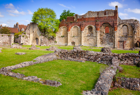 Ruined St Augustines Abbey, the oldest Benedictine monastery in Canterbury, Kent Southern England, UK.