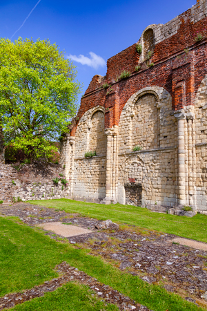 Ruined St Augustine's Abbey, the oldest Benedictine monastery in Canterbury, Kent Southern England, UK.