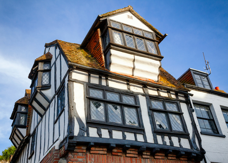 Traditional old English Tudor style timber-framed house in Hastings East Sussex  South East England UK Stock Photo