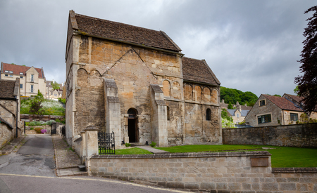 St Laurences Church in Bradford on Avon, one of very few surviving Anglo-Saxon churches in England, Wiltshire, Southwest England, UK Stock Photo