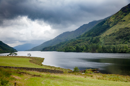 Freshwater Loch Eck at Loch Lomond and The Trossachs National Park in Argyll and Bute, Scotland, UK