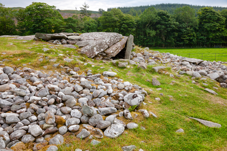 Neolithic South Chambered Cairn at Nether Largie prehistoric site  Kilmartin Glen near Kintyre, Argyll and Bute, Scotland, UK Stock Photo