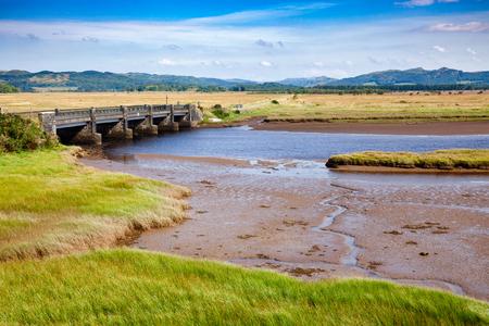 Moine Mhor National Nature Reserve near Kilmartin with large area of raised bog, saltmarsh, brackish grassland, alder carr, fen and woodland, Argyll and Bute, Scotland, UK Banque d'images - 100748492